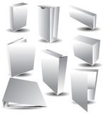 White Blank Packaging. An image of a blank 3d packaging set Royalty Free Stock Photo