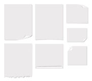 White blank page vector illustration Royalty Free Stock Photos