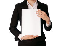 White blank paper Stock Photos