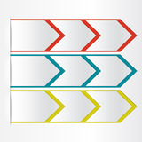 White blank paper arrow Royalty Free Stock Images