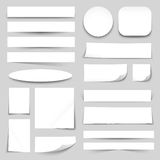 White Blank Paper Banners Collection Stock Image