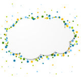 White blank paper cloud with colorful circles Royalty Free Stock Images