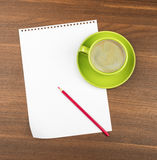 White blank paper with coffee Stock Images