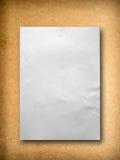 White blank paper on Medium Density Fiberboard Stock Photos