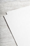 White blank paper page closeup mockup Royalty Free Stock Photos