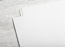 White blank paper page closeup mockup Stock Photography