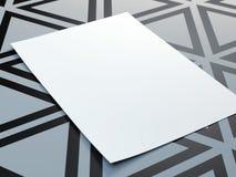 White blank paper sheet Royalty Free Stock Photos