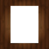 White blank paper  sheet on wooden background Stock Images