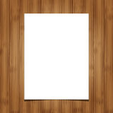 White blank paper  sheet on wooden background Royalty Free Stock Image