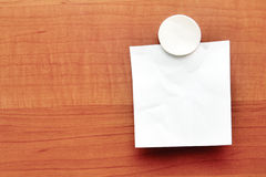 White blank paper on wood Stock Photos