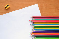 White blank with pencils Royalty Free Stock Photos