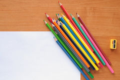 White blank with pencils Stock Photo