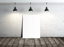 White blank placard Stock Image