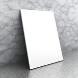 White blank poster billboard on concrete wall. 3d render illustration Stock Photo