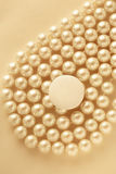 White blank round badge. White round blank badge on pearl background royalty free stock images