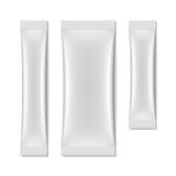 White blank sachet packaging, stick pack Stock Image