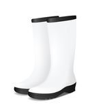 White blank safety rubber boots Royalty Free Stock Photography