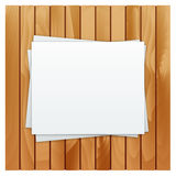 The white blank sheet of paper Royalty Free Stock Image