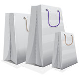 White blank shopping bag Royalty Free Stock Photos