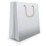 White blank shopping bag, vector template Stock Image