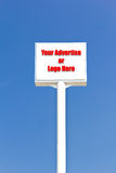 White blank sign , useful for any advertise or l Royalty Free Stock Photo
