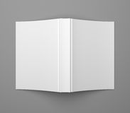 White blank soft cover book template on grey. Blank soft cover book template on gray background Stock Image