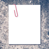 White blank space and red paper clip Stock Image