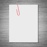 White blank space and red paper clip Royalty Free Stock Photos