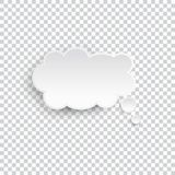 White blank speech bubble isolated vector. Infographic design thought bubble on the transparent background. Eps 10 vector file vector illustration