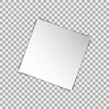 White blank square poster mockup, sheet of paper on isolated background. Vector illustration Stock Photo