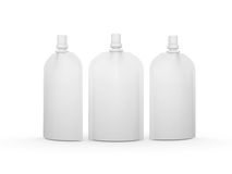 White blank stand up  bag packaging with spout lid, clipping pat Royalty Free Stock Photos