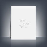 White blank stationary near the black wall with Royalty Free Stock Photos