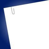 White blank sticker. With paper clip Stock Photography