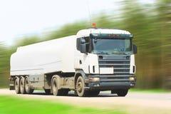 White blank tanker truck Royalty Free Stock Image