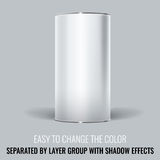 White Blank Tincan packaging. Vector Mock up design. Royalty Free Stock Images
