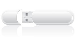 White blank usb flash vector illustration Stock Photography