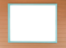 White blank wooden window Royalty Free Stock Images