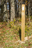 White Blazes on the Appalachian Trail Stock Photos