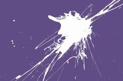 White blemish on the floor. White blemish on the Ultra Violet background Stock Image