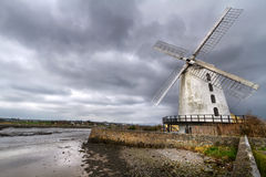 White Blenerville windmill Royalty Free Stock Photo