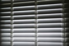 White blind shade curtain and shadow Stock Image