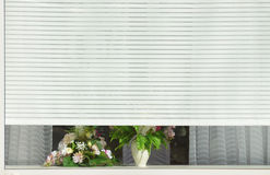 White blinds on the window. Stock Photo