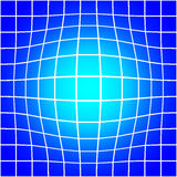 White Bloat Grid on Blue Background Seamless Pattern Stock Photos
