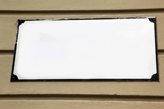 White block in a wall that looks like empty ad space Royalty Free Stock Photo