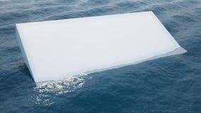 White block in water Stock Photo