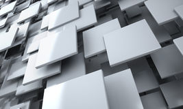 White Blocks Abstract Background. Realistic 3D Render Scene Royalty Free Stock Image