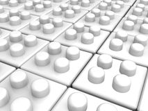 White blocks array Royalty Free Stock Images