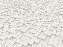White blocks. Backdrop of a multitude of white blocks vector illustration
