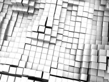 White blocks background. Abstract 3d illustration of white blocks background Stock Photos