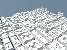 White blocks city Royalty Free Stock Image